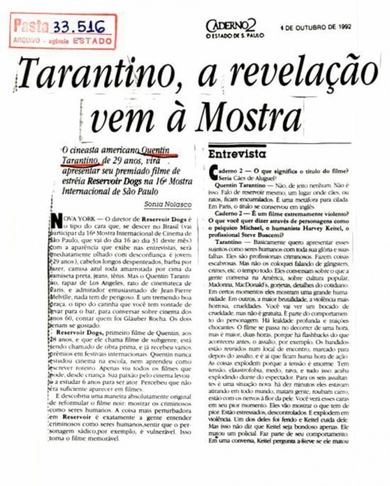 Estado de S. Paulo - 4/10/1992