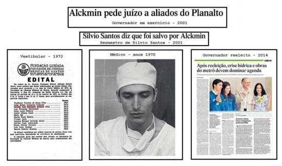 A história do candidato Geraldo Alckmin naspáginas do jornal