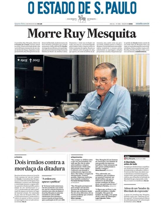 > Estadão - 22/5/2013