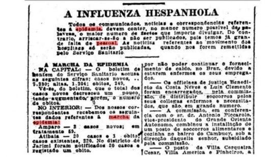 Estado de S.Paulo - 08/11/1918  Clique aqui para ler a notícia