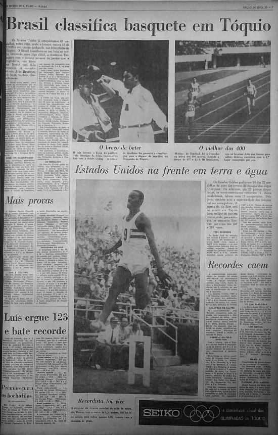 Edição de Esportes - 19/10/1964