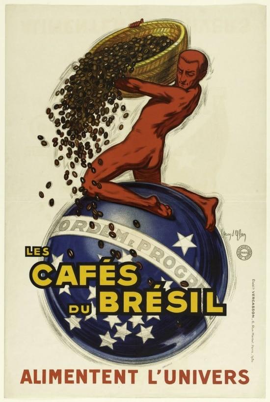 Publicidade do café brasileiro (1930) de Jean d'Ylen. Museu Carnavalet, Paris