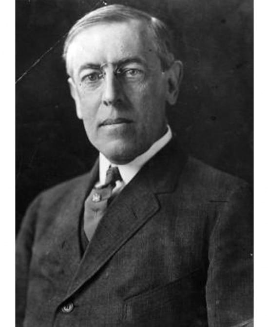 O presidente americano Woodrow Wilson.