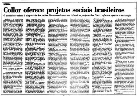 > Estadão - 24/7/1992