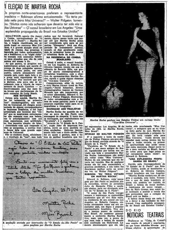O Estado de S.Paulo - 08/08/1954