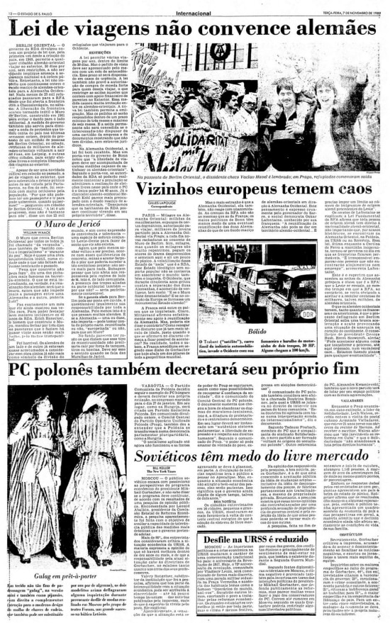 O Estado de S.Paulo - 07/11/1989