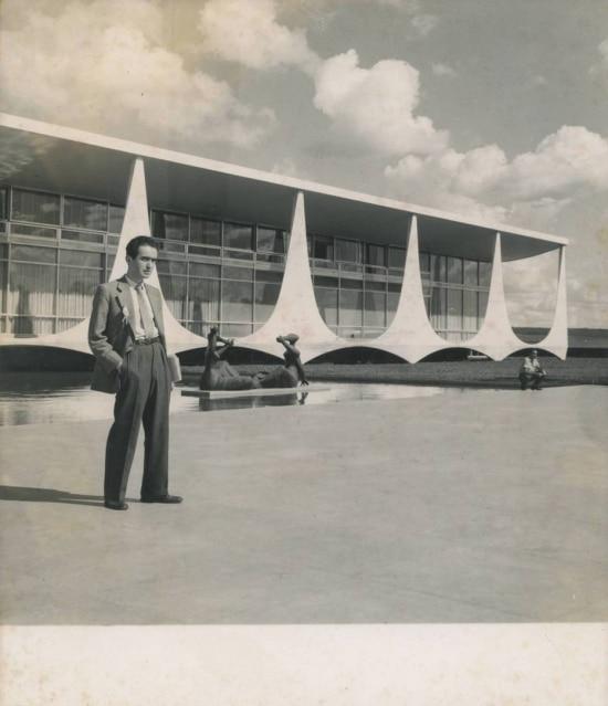 Vladimir Herzog na cobertura da inauguração de Brasília