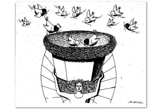 Charge de Biganti publicada no Estadão em 11/6/1970