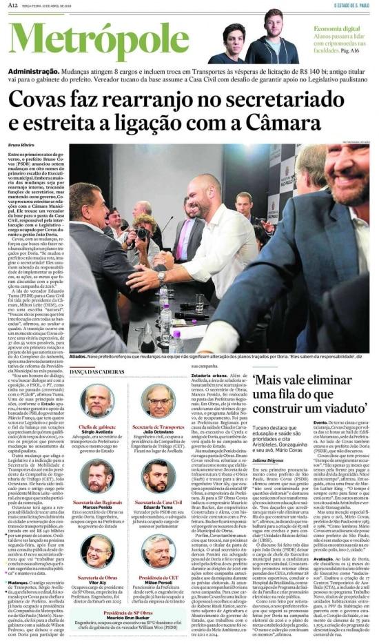 >> Estadão - 10/04/2018