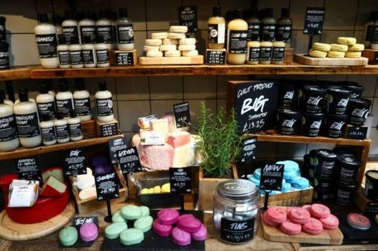 Loja em Londres da Lush, famosa por produtos naturais e que encerrou operação no Brasil