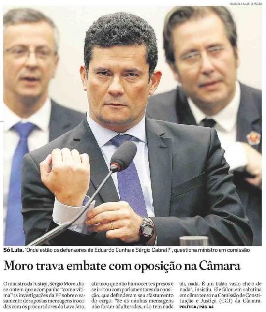 Sérgio Moro nojornal de 3/7/2019