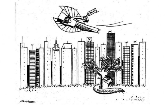 Charge publicada em30/6/1970