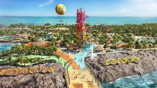 Perspectiva eletrônica da ilha Perfect Day at CocoCay.