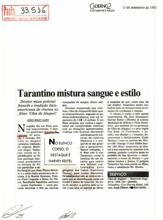 O Estado de S. Paulo, 15/7/1993