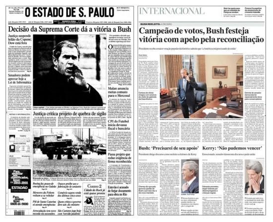 O Estado de S.Paulo de14/12/2000e de04/11/2004