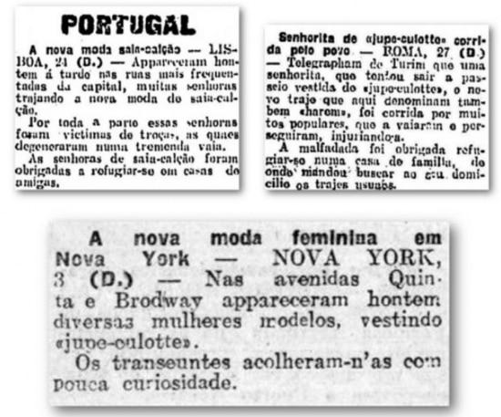 A polêmica das calças femininas no Estadão de 1911