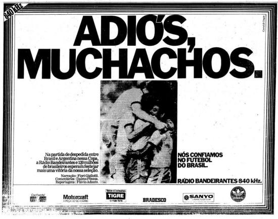 Viu esse anúncio? 1982| Rádio Bandeirantes - noticias - O