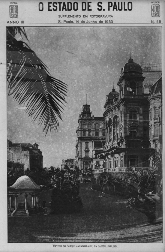Parque Anhangabaú, em junho de 1933.