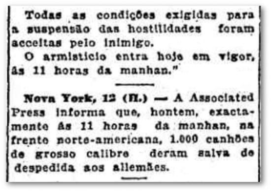 O Estado de S.Paulo- 13/11/1918
