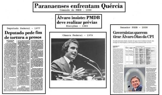 A história do candidato Álvaro Dias naspáginas do jornal