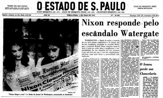 Manchete do Estadão de 01/5/1973  Clique aqui par ver a página