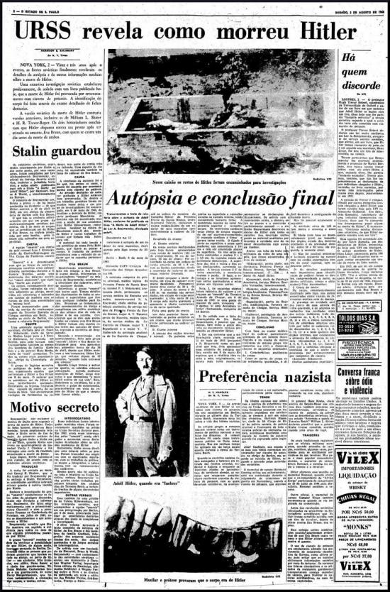 O Estado de S.Paulo - 03/8/1968