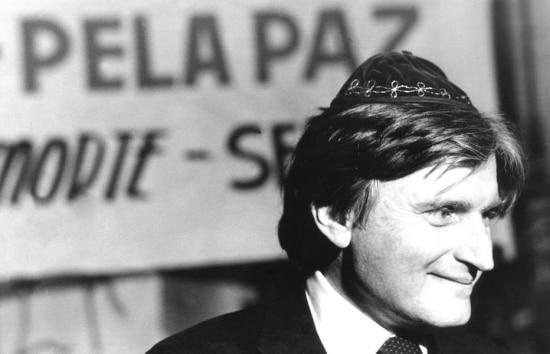 Henry Sobel participa de homenagem aos mortos pelas bombas atômicas lançadas sobre oJapão, São Paulo, 6/8/1991.