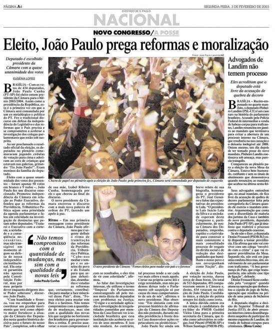 > Estadão - 03/02/2003