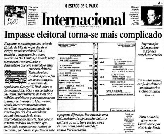 > Estadão - 10/11/2000
