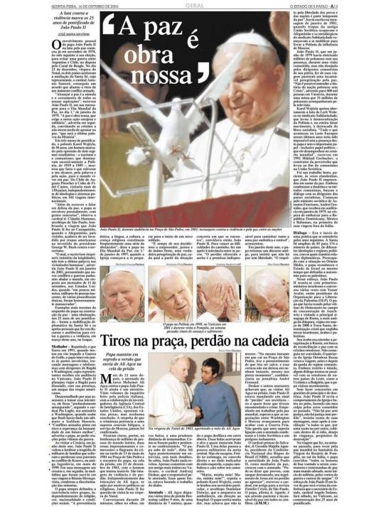 > Estadão - 16/10/2003