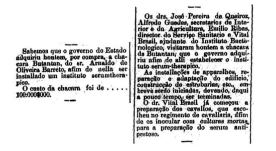 Estadão - 09 e 10/11/1899
