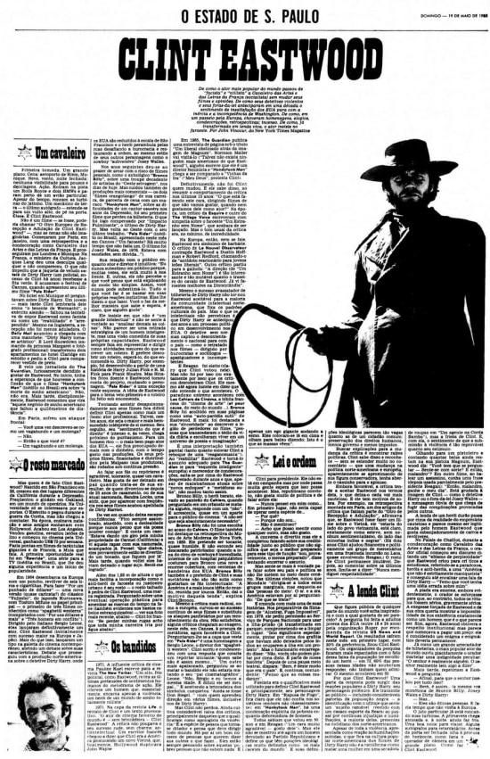 Página de 19/5/1985sobre Clint Eastwood