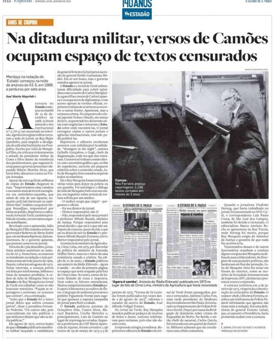 > Estadão - 18/01/2015