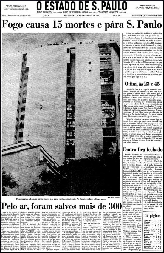 O Estado de S.Paulo - 25/02/1972