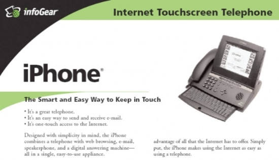 Publicidade doI-phone da InfoGear