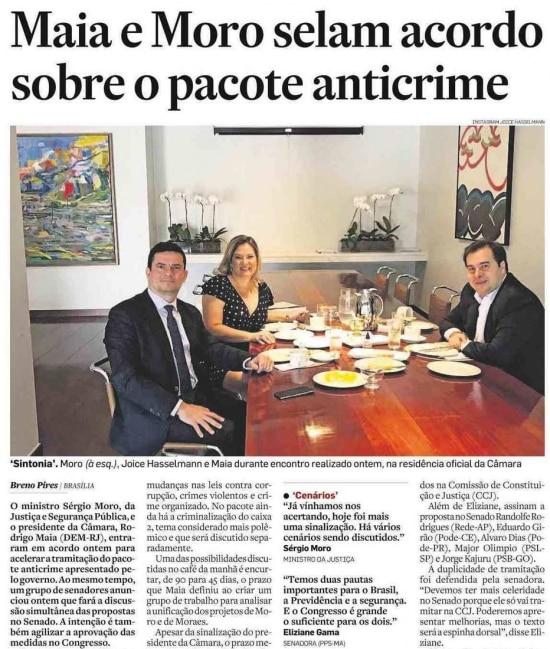 Sérgio Morono jornal de 29/3/2019