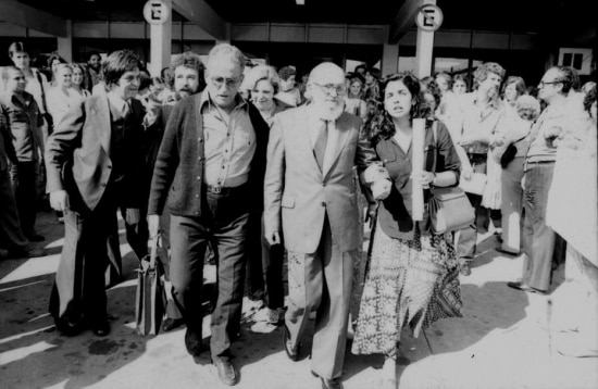 Recepção a Paulo Freire no aeroporto de Viracopos, em Campinas, em 7/8/1979.