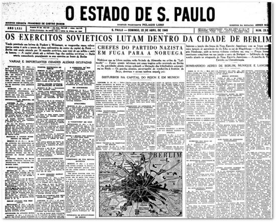 O Estado de S.Paulo - 22/04/1945 clique aqui para ver a página