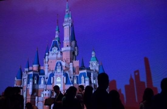 Imagem do castelo no parque de Xangai, o 'mais alto, maior e mais interativo entre todos os parques do grupo, segundo o CEO Bob Iger