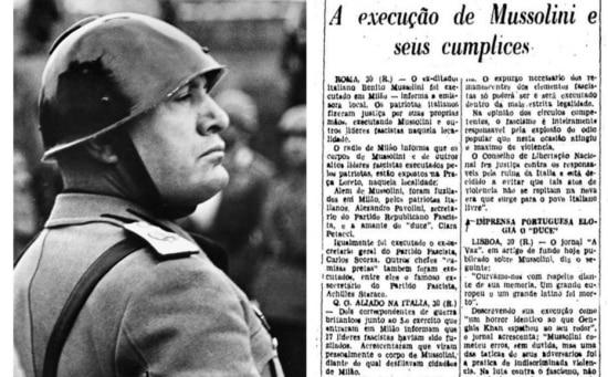 Benito Mussolini passa em revista tropas italianas, em 1937.