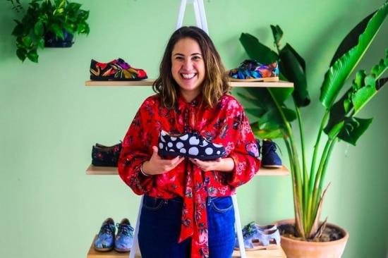 Barbara Mattivy, cofundadora da marca de sapatos veganos Insecta Shoes. Foto: Gabriela Bilo/Estadão