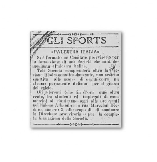 Notícia da reunião da fundação do Palmeiras - 18/8/1914