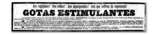 Anúncio publicado em 12/6/1920