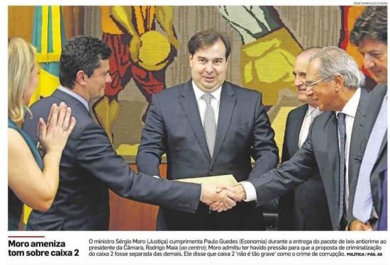 Sérgio Moro nojornal de 20/2/2019