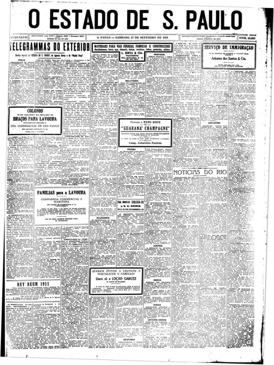 >> Estadão- 17/9/1921