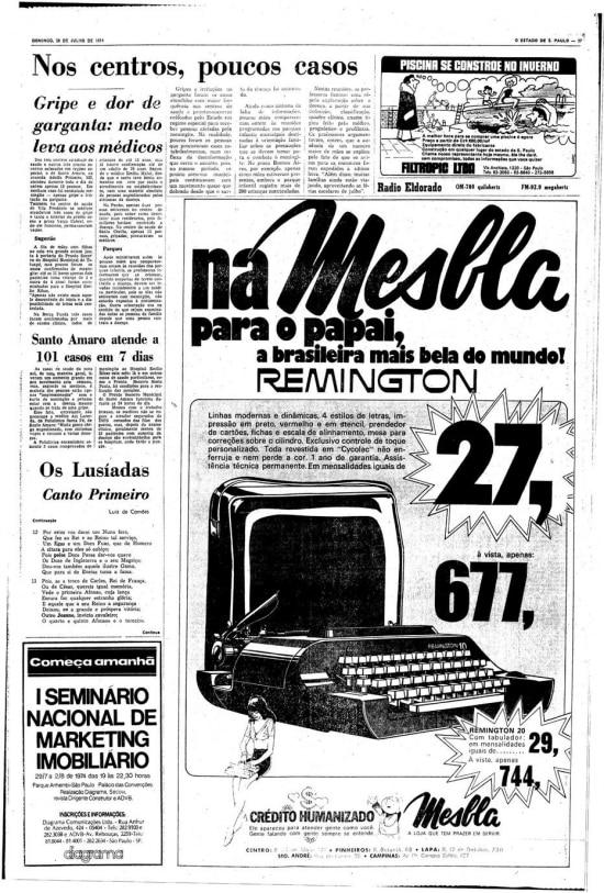 Página censuradade 28/7/1974