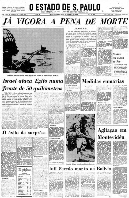 O Estado de S.Paulo- 10/9/1969