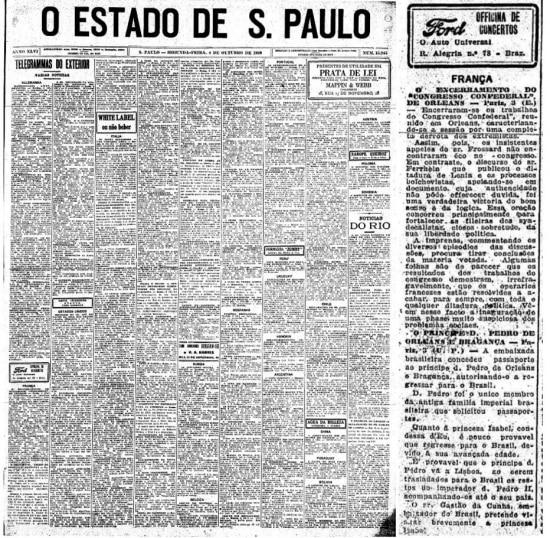 Após a revogação do banimento da família real, d. Pedro de Orleans e Bragançafoi o único a pedir o passaporte brasileiro