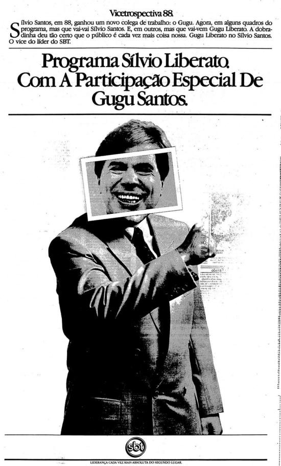 Publicidade veiculada noEstadão de 25/12/1988 clique aqui para ver a página