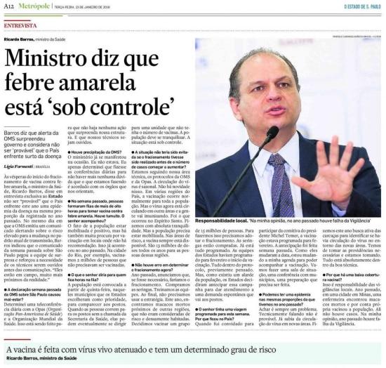 >> Estadão - 23/01/2018